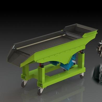 塑料射出成品料头振动筛选分离机